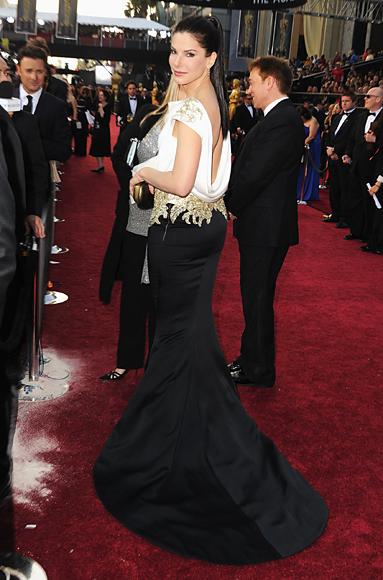 Sandra Bullock - Marchesa - Oscars