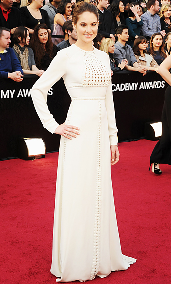 Shailene Woodley - Valentino Couture - Oscars Trends - Long Sleeves
