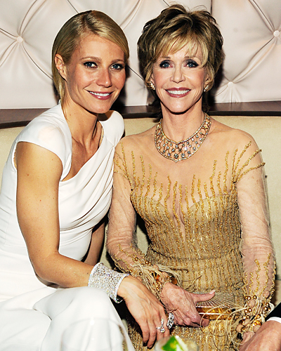 Hairstyles  Parties on Jane Fonda   Oscars After Parties   Oscars 2012   Celebrity   Instyle