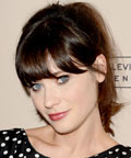 Zooey Deschanel - Daily Beauty Tip - Wearing Bangs in Humid Weather