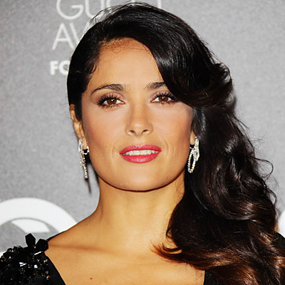 Salma Hayek - Transformation - Hair - Celebrity Before and After