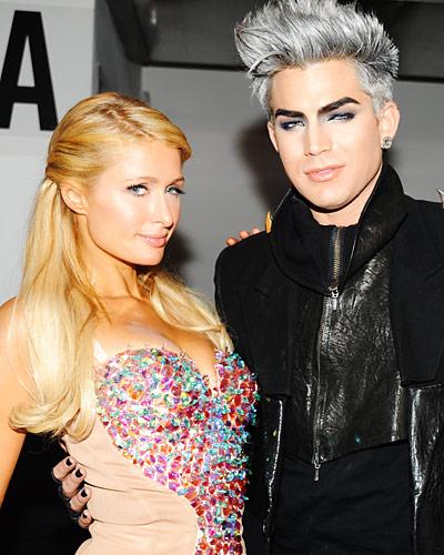 Paris Hilton and Adam Lambert - New York Fashion Week