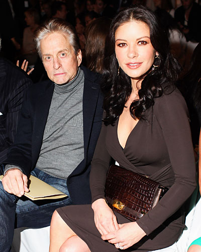 Michael Douglas and Catherine Zeta-Jones - New York Fashion Week