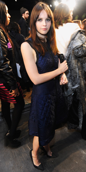 Felicity Jones in Proenza Schouler