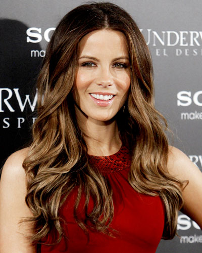 Dark Brown Hair with Highlights Underneath