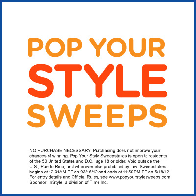 Pop your Style Sweepstakes