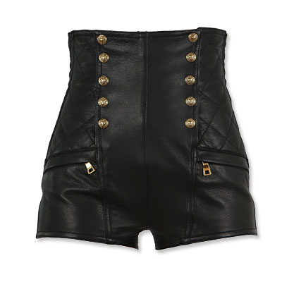 Balmain - leather shorts - We're Obsessed