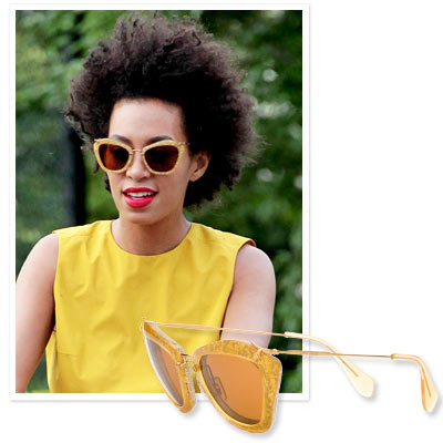 Solange Knowles - Miu Miu - Shop Star Sunglasses