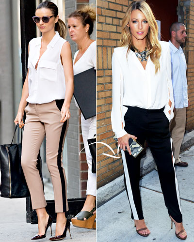 Look of the Day photo | Tuxedo-Stripe Pants