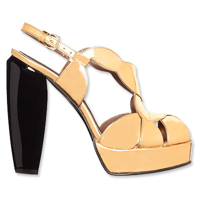 Marni Gold Pumps