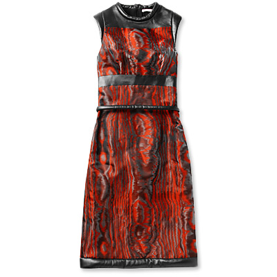 Christopher Kane Leather-Trimmed Dress