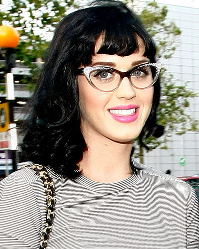 Eyeglass Frames Katy : Katy Perry in Large Cat-Eye Frames - The Perfect Star ...