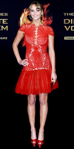 Jennifer Lawrence in Marchesa