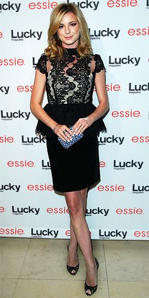 Emily VanCamp in alice + olivia by Stacey Bendet