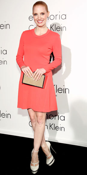 Jessica Chastain in Calvin Klein Collection