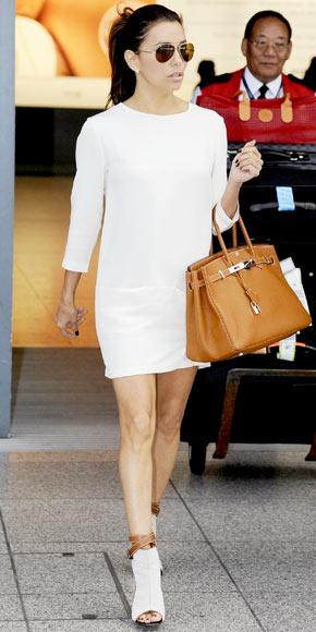 Eva Longoria in Hermes