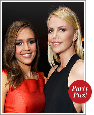 Jessica Alba and Charlize Theron