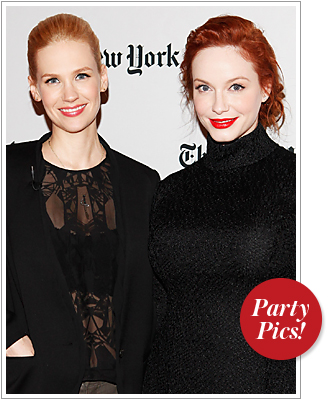 January Jones and Christina Hendricks