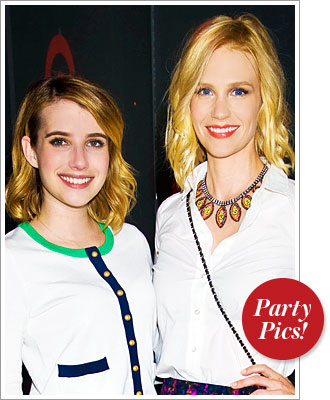 January Jones and Emma Roberts