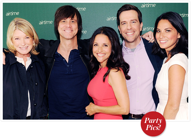 Martha Stewart, Jim Carrey, Julia Louis-Dreyfus, Ed Helms, and Olivia Munn