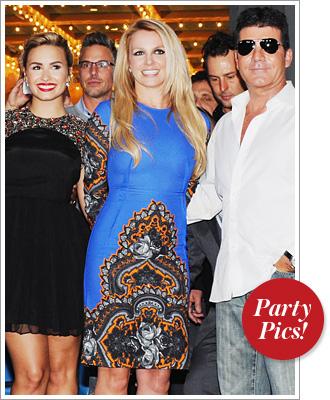 Demi Lovato, Britney Spears, Simon Cowell