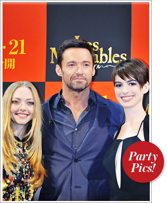 Amanda Seyfried, Hugh Jackman, Anne Hathaway