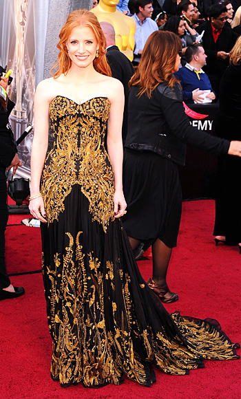 Jessica Chastain - Oscars Trends - Gold