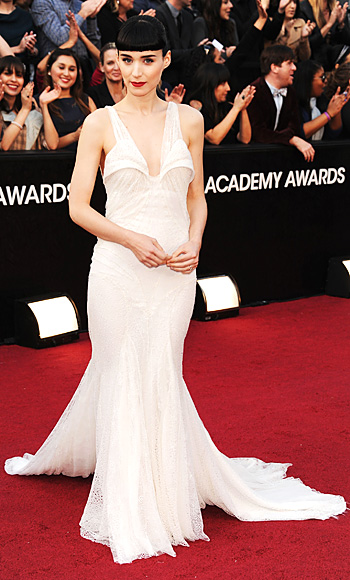 Rooney Mara - Oscars Trends - Givenchy - White