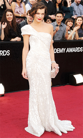 Milla Jovovich - Elie Saab - Oscars Trends - White