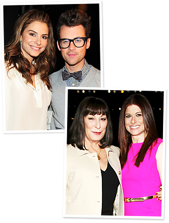 Maria Menounos, Brad Goreski, Angelica Huston, Debra Messing
