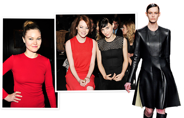 New York Fashion Week, Emma Stone, Rooney Mara, Julia Stiles