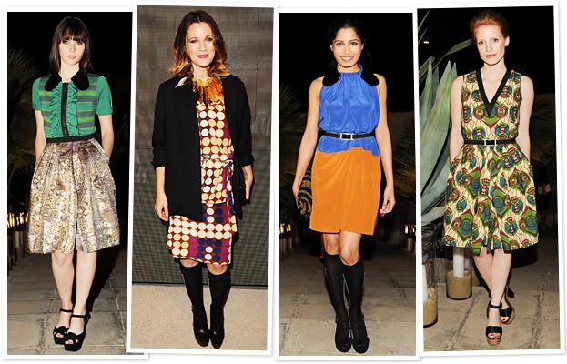 Felicity Jones, Drew Barrymore, Freida Pinto, Jessica Chastain