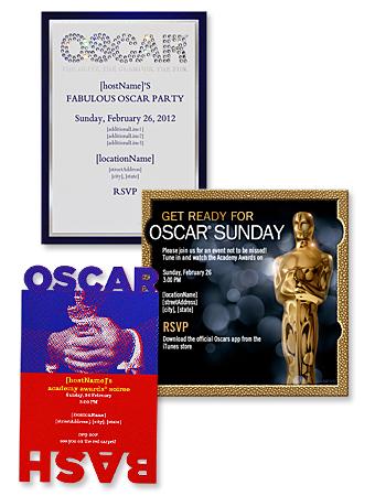 Oscars 2012, Postmark Evites