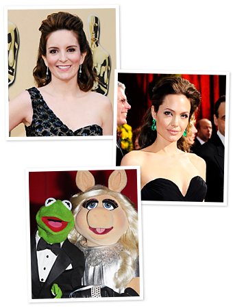 Tina Fey, The Muppets, Angelina Jolie, Oscars 2012