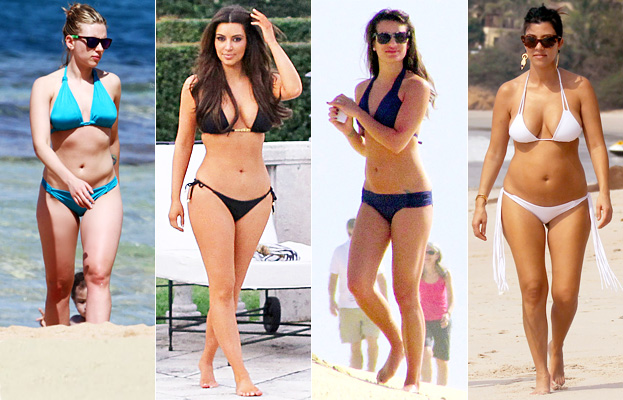 Scarlett Johansson, Kim Kardashian, Lea Michele, Kourtney Kardashian