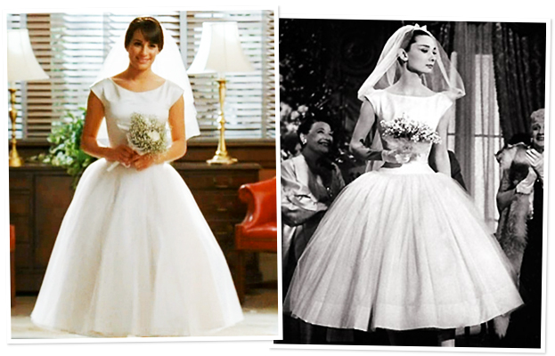 Glee forever yours finchel monchele 540 good for Audrey hepburn inspired wedding dress