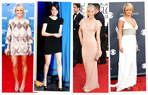 Lorena Sarbu, Carrie Underwood, Emma Stone, Heather Morris, Miranda Lambert