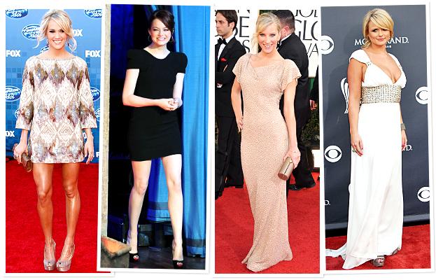 Lorena Sarbu, Carrie Underwood, Emma Stone, Heather Morris, Miranda Lambert