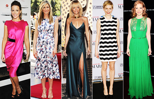 Kate Beckinsale, Jennifer Aniston, Rihanna, Michelle Williams, Jessica Chastain