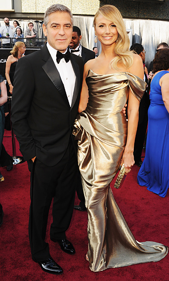 George Clooney and Stacy Keibler, Oscars 2012