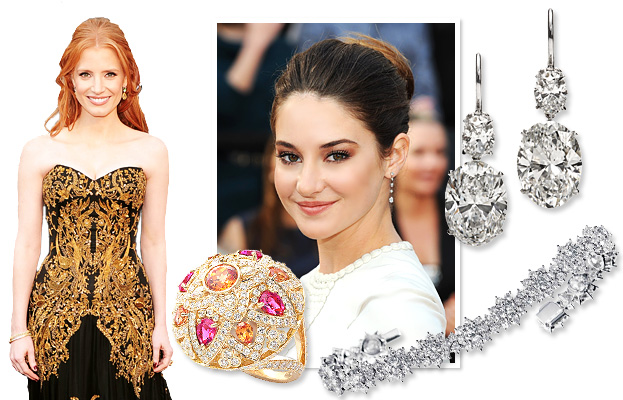 Jessica Chastain, Shailene Woodley, Harry Winston
