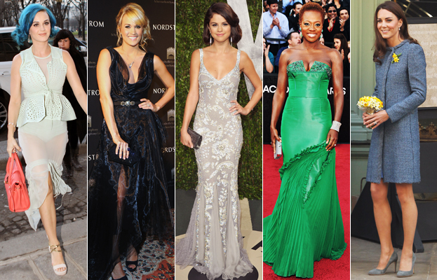 Katy Perry, Carrie Underwood, Selena Gomez, Viola Davis, Kate Middleton