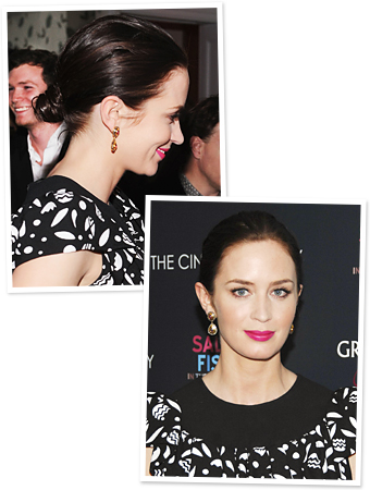 K Michelle Short Hairstyles 2012 Idea: Emily Blunt's Sleek Bun : InStyle.com What's Right Now