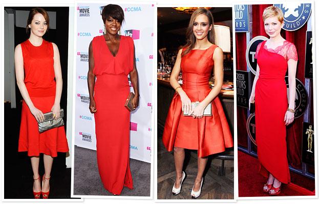 Celebrity Red Dress