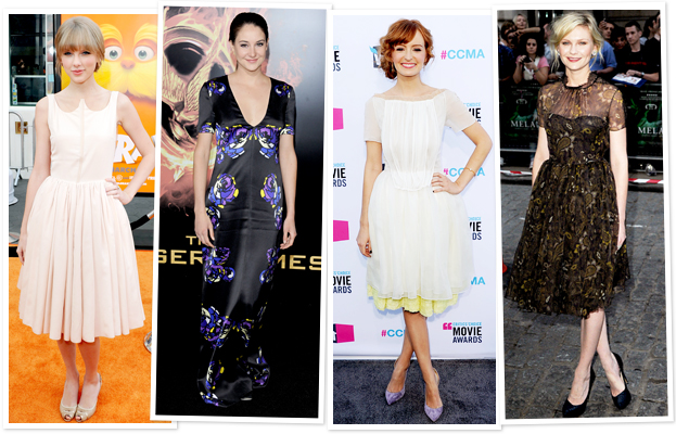 Taylor Swift, Shailene Woodley, Ahna O'Reilly, Kirsten Dunst