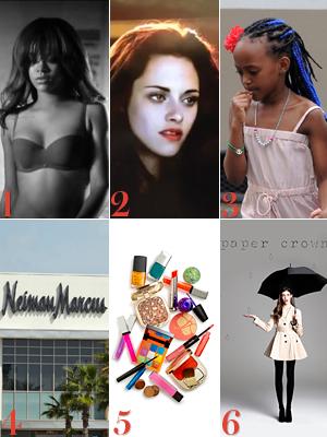Rihanna, Kristen Stewart, Zahara Jolie-Pitt