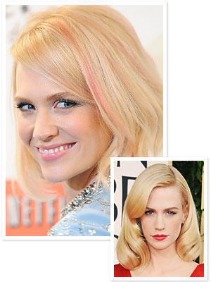 January Jones - Pink Hair