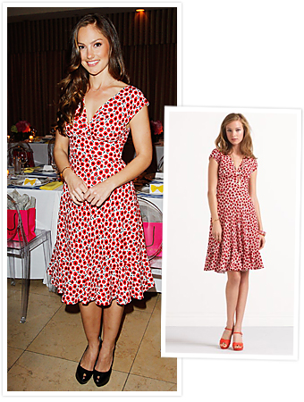 Minka Kelly, Kate Spade, Pippa Dress