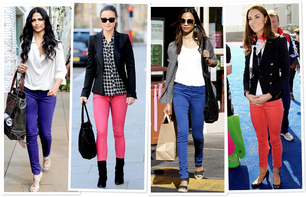 Celebrity Colored Jeans
