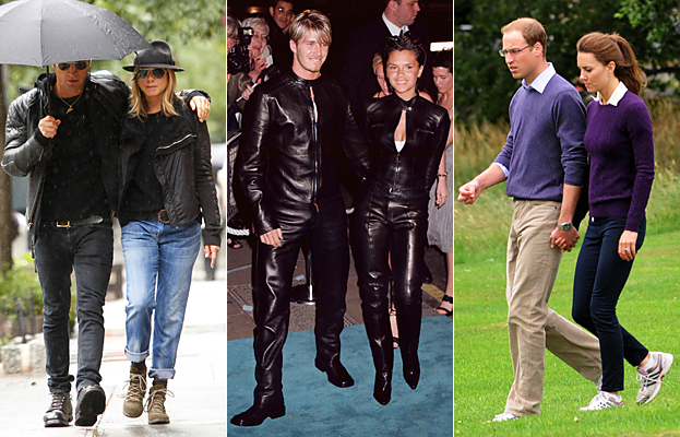 Matching Couples, Jennifer Aniston, Victoria Beckham, David Beckham, Kate Middleton, Prince William